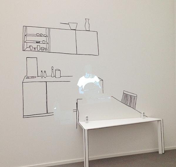 Zilla Leutenegger. Office. Pinakothek der Moderne, München